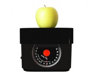 pomme sur une balance