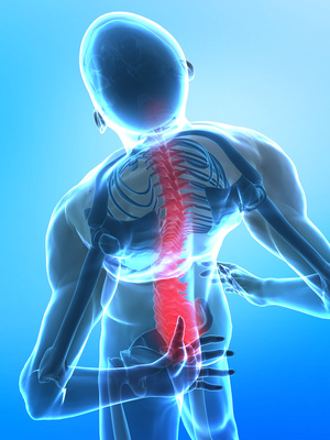 Pain in bottom side of spine