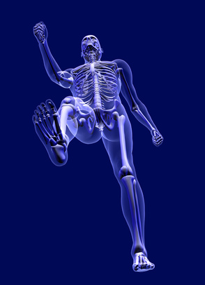 x-ray man from below