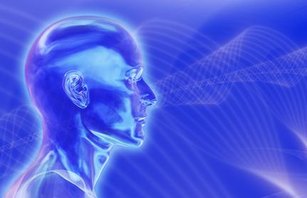 blue brainwaves background