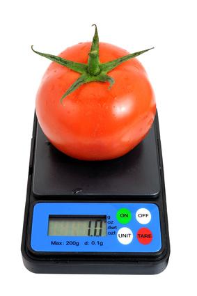 pesé de légume pour régime